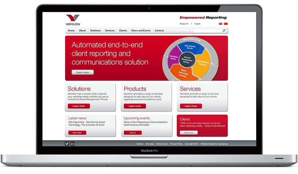 Vermilion Website Design
