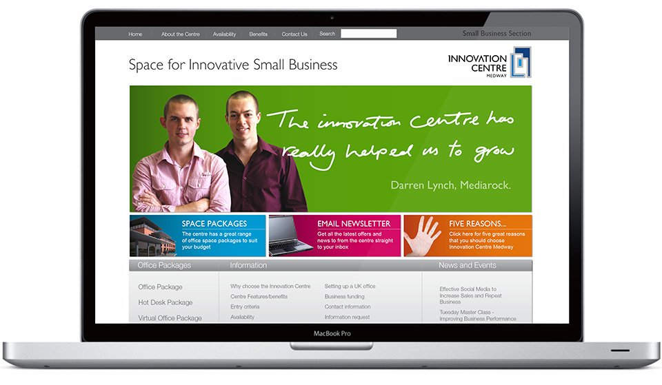 Innovation Centre Website Design